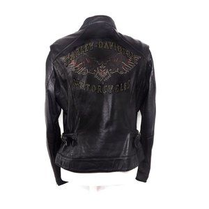 Harley-Davidson Black Leather Motorcycle Jacket